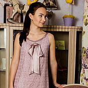 """Одежда ручной работы. Ярмарка Мастеров - ручная работа """"Рассвет"""". Платье с атласным бантом. Handmade."""