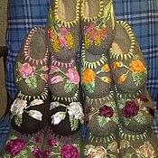 Обувь ручной работы. Ярмарка Мастеров - ручная работа валяные тапочки женские. Handmade.