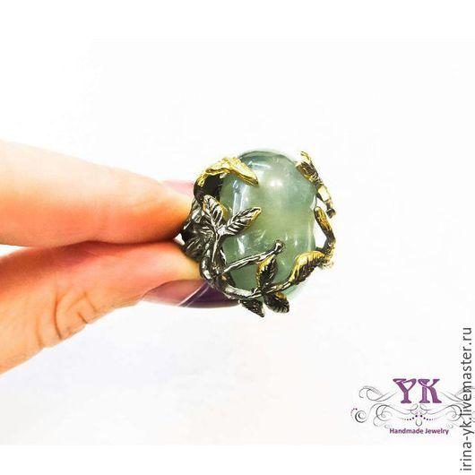 Кольца ручной работы. Ярмарка Мастеров - ручная работа. Купить Эффектное кольцо из серебра и аметиста. Handmade. Зеленый, кольцо с аметистом