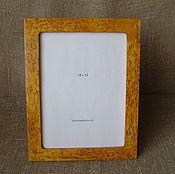 Сувениры и подарки handmade. Livemaster - original item Photo frame made of Karelian birch 18х24. Handmade.