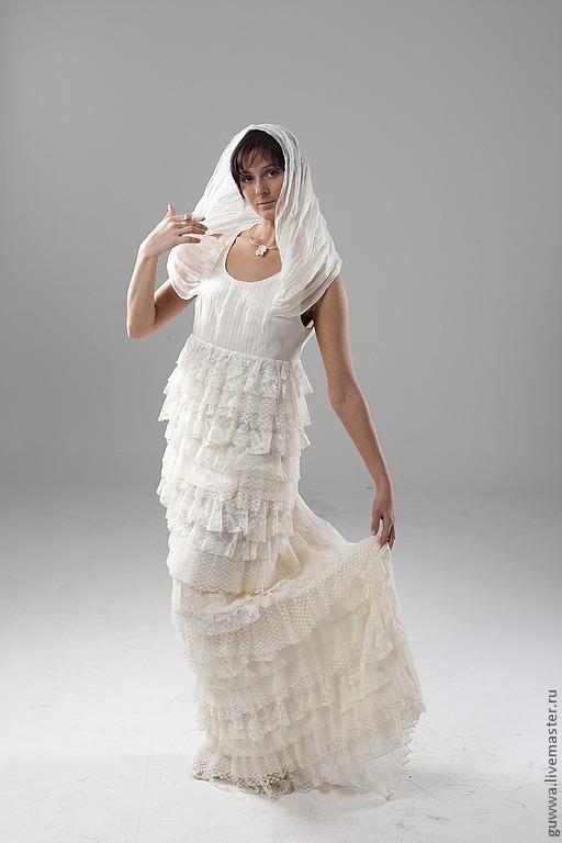 """Одежда и аксессуары ручной работы. Ярмарка Мастеров - ручная работа. Купить дизайнерское свадебное платье """"Вена"""". Handmade. Белый, для девушки"""
