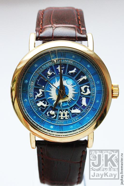 """Часы ручной работы. Ярмарка Мастеров - ручная работа. Купить Часы наручные JK """"зодиаки 2"""". Handmade. Часы наручные"""