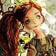 Коллекционные куклы ручной работы. Ярмарка Мастеров - ручная работа. Купить Соня. Handmade. Рыжий, котик, шифон, акриловые краски