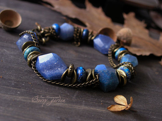 Браслеты ручной работы. Ярмарка Мастеров - ручная работа. Купить Браслет Ocean. Handmade. Синий, бирюзовый, натуральные камни