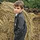 Одежда для мальчиков, ручной работы. Куртка-ковбойка. 'Нежный возраст'. Ярмарка Мастеров. Ребенку, шерстяная кофта, домашняя одежда