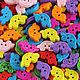 """Шитье ручной работы. Ярмарка Мастеров - ручная работа. Купить Пуговицы деревянные цветные """"Машинки"""". Handmade. Пуговицы, пуговицы декоративные"""