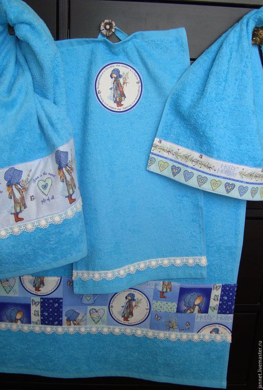 комплект из большого, среднего и 2-х малых полотенец - 1500 руб