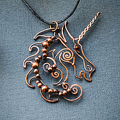 Pendant manualidades. Livemaster - hecho a mano Copper pendant