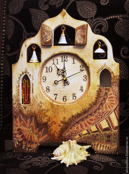 """Часы для дома ручной работы. Ярмарка Мастеров - ручная работа. Купить Часы настенные """"Колокольный звон"""". Handmade. Бежевый"""