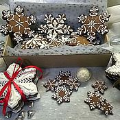 """Сувениры и подарки ручной работы. Ярмарка Мастеров - ручная работа Новогодний набор """"Снежинки на елку"""". Handmade."""