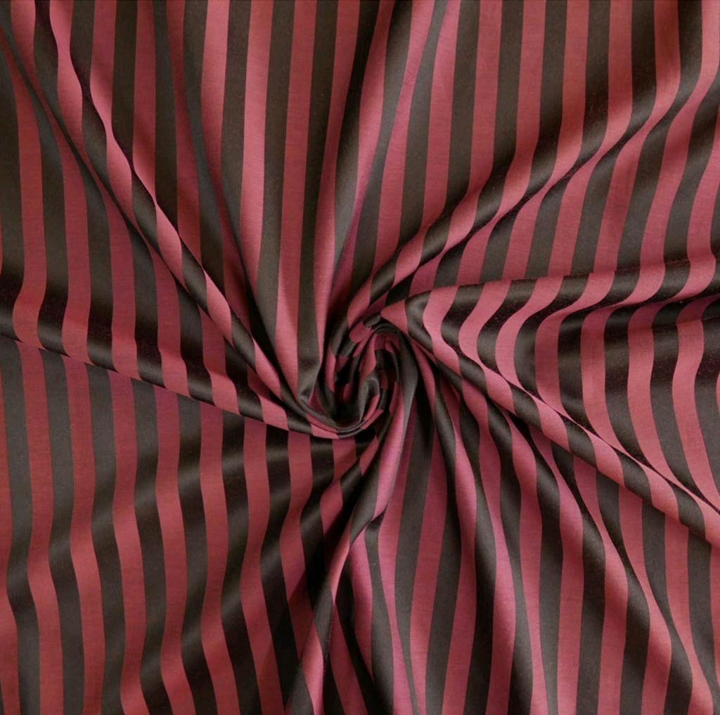 Шитье ручной работы. Ярмарка Мастеров - ручная работа. Купить Ткань хлопковая с шелком,в полоску. Handmade. Ткань