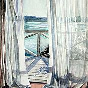 "Картины и панно handmade. Livemaster - original item Watercolor ""Morning freshness"". Handmade."