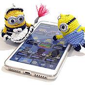 Куклы и игрушки handmade. Livemaster - original item Knitted minion keychain. m/f