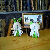 Мягкие игрушки ручной работы. Ярмарка Мастеров - ручная работа Зайка и Мишутка. Handmade.