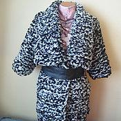 Одежда ручной работы. Ярмарка Мастеров - ручная работа Вязаный кардиган-пальто спицами с отложным воротником. Handmade.