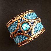 Украшения handmade. Livemaster - original item Embroidered wristband