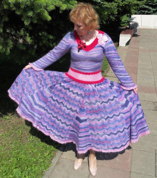 Платья ручной работы. Ярмарка Мастеров - ручная работа. Купить Вязаное  платье Sofi Marso из мохера. Handmade.
