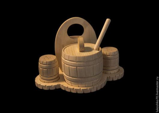 Конфетницы, сахарницы ручной работы. Ярмарка Мастеров - ручная работа. Купить Сахарница деревянная из кедра (набор для сахара соли перца). Handmade.