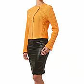 """Одежда ручной работы. Ярмарка Мастеров - ручная работа Хлопковый жакет  """"Хитросплетение"""" оранжевый. Handmade."""