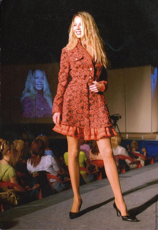 """Платья ручной работы. Ярмарка Мастеров - ручная работа. Купить Платье """"Красный жаккард - 2"""". Handmade. Комбинированный, платье, жаккард"""
