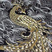 """Картины и панно ручной работы. Ярмарка Мастеров - ручная работа Панно """"Птица счастья"""" ручная вышивка золотное шитье. Handmade."""