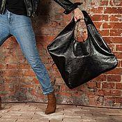 Классическая сумка ручной работы. Ярмарка Мастеров - ручная работа Большая женская сумка шоппер из экокожи Square. Handmade.