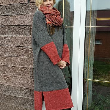 Clothing handmade. Livemaster - original item dresses: Tweed winter TWEED YarnArt. Handmade.