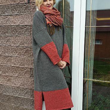 Одежда ручной работы. Ярмарка Мастеров - ручная работа Платья: Твидовая зима TWEED YarnArt. Handmade.