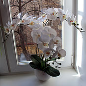 Цветы и флористика ручной работы. Ярмарка Мастеров - ручная работа Орхидея белая. Handmade.