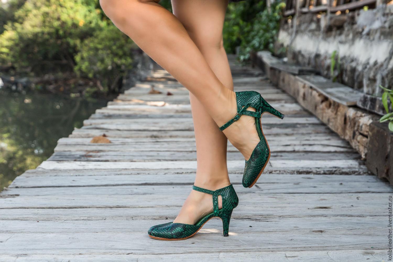Обувь ручной работы. Ярмарка Мастеров - ручная работа. Купить Туфли на  каблуке из натуральной ... abd1ae00931