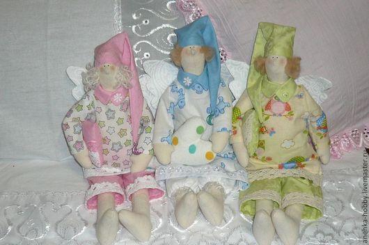Куклы Тильды ручной работы. Ярмарка Мастеров - ручная работа. Купить Сонный ангел (Тильда)  Соня, Дрёма и Спал Палыч. Handmade.