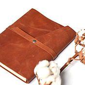 Блокноты ручной работы. Ярмарка Мастеров - ручная работа Кожаный блокнот на кольцах из натуральной итальянской кожи Crazy Horse. Handmade.