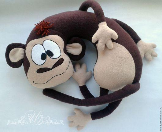 подушка обезьянка, подушка ручной работы, подушка-подголовник, подарок, подушка в подарок, подарок ручной работы, авторская работа, подушка купить, подарок купить