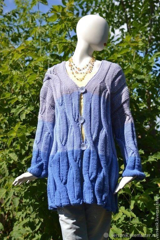 Knitted cardigan 'Blue iris' blue, blue, Cardigans, Samara,  Фото №1