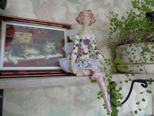 """Куклы Тильды ручной работы. Ярмарка Мастеров - ручная работа. Купить Кукла Тильда """"Балерина"""". Handmade. Сиреневый, принцесса, снежинка"""