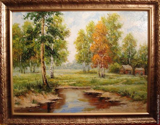 Пейзаж ручной работы. Ярмарка Мастеров - ручная работа. Купить пейзаж. Handmade. Разноцветный, картина, картина в подарок, картина для интерьера