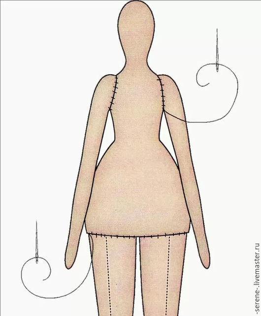 Куклы Тильды ручной работы. Ярмарка Мастеров - ручная работа. Купить Заготовка для тела Тильды. Handmade. Бежевый, телесный оттенок