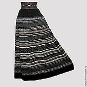 Одежда ручной работы. Ярмарка Мастеров - ручная работа Юбка макси расклешенная черно-серая. Handmade.
