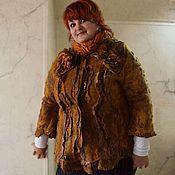 """Одежда ручной работы. Ярмарка Мастеров - ручная работа Жакет """"Осенний блюз"""" Валяный. Handmade."""