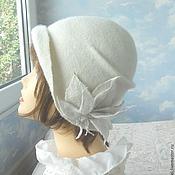 """Аксессуары handmade. Livemaster - original item wool hat """"Pearl"""". Handmade."""