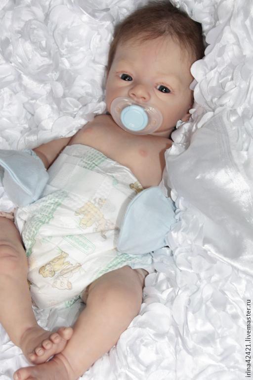 Куклы-младенцы и reborn ручной работы. Ярмарка Мастеров - ручная работа. Купить Кукла реборн Ромочка-2.. Handmade. Голубой