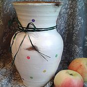 """Посуда ручной работы. Ярмарка Мастеров - ручная работа Крынка """"Яблочки на снегу"""". Handmade."""