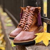 Обувь ручной работы. Ярмарка Мастеров - ручная работа Осенние ботиночки, р. 37. Handmade.