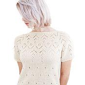 Одежда handmade. Livemaster - original item Knitted cashmere sweater with raglan sleeves Handmade. Handmade.