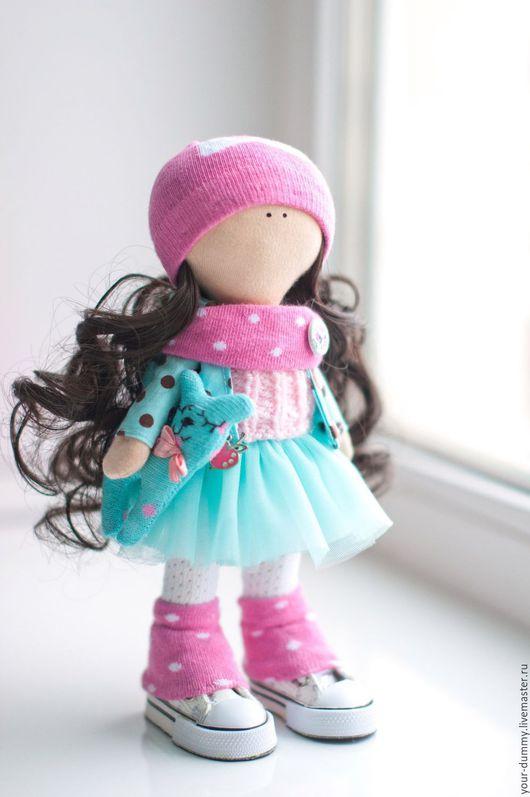 Коллекционные куклы ручной работы. Ярмарка Мастеров - ручная работа. Купить Малышка Лиза. Handmade. Бирюзовый, подарок на любой случай