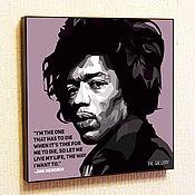 Сувениры и подарки handmade. Livemaster - original item Picture poster of Jimi Hendrix in the style of Pop Art. Handmade.
