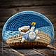 Женские сумки ручной работы. Ярмарка Мастеров - ручная работа. Купить Я на море. Handmade. Синий, косметичка, пляж, берег