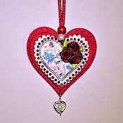 Подарки к праздникам ручной работы. Ярмарка Мастеров - ручная работа Декоративное украшение объемная валентинка Сердце для тебя. Handmade.
