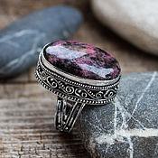 Украшения handmade. Livemaster - original item The Royal ring (a ring) with rhodonite