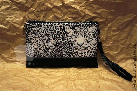 """Женские сумки ручной работы. Ярмарка Мастеров - ручная работа. Купить Клатч """"Леопард"""". Handmade. Клатч, подарок девушке, ткань"""